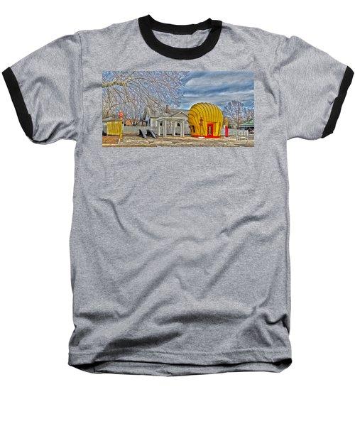 Days Of Yesterday Gas Station Baseball T-Shirt