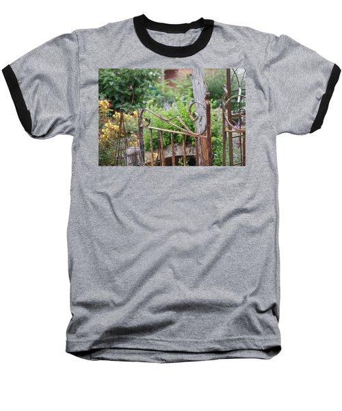 Vintage Gate Baseball T-Shirt by Debi Demetrion