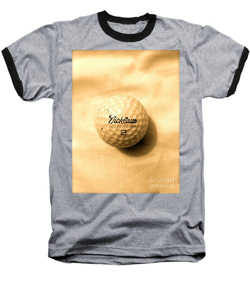 Vintage Golf Ball Baseball T-Shirt by Anita Lewis