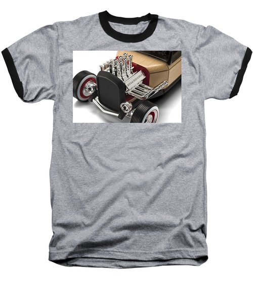 Baseball T-Shirt featuring the photograph Vintage Hot Rod Engine by Gianfranco Weiss