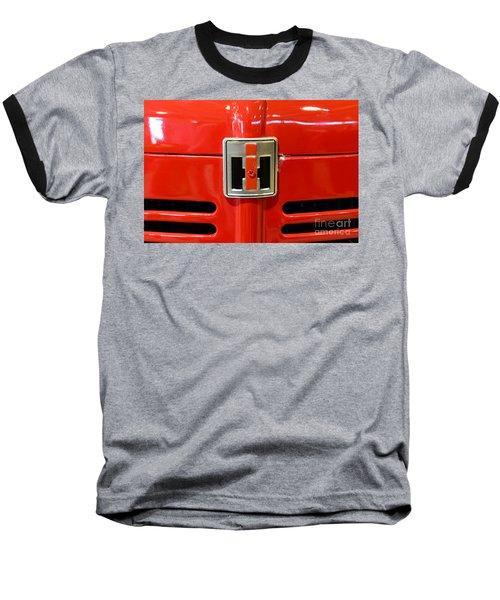 Vintage International Harvester Tractor Badge Baseball T-Shirt by Paul Ward