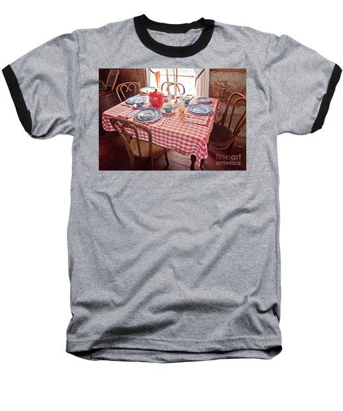 Vintage Kitchen Table Art Prints Baseball T-Shirt