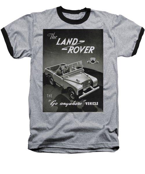 Vintage Land Rover Advert Baseball T-Shirt