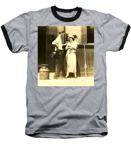Baseball T-Shirt featuring the photograph New Orleans Vintage Love In Memory Of My Deceased Grandfather From Ireland I Never New by Michael Hoard