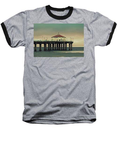 Vintage Manhattan Beach Pier Baseball T-Shirt