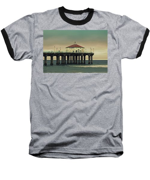 Vintage Manhattan Beach Pier Baseball T-Shirt