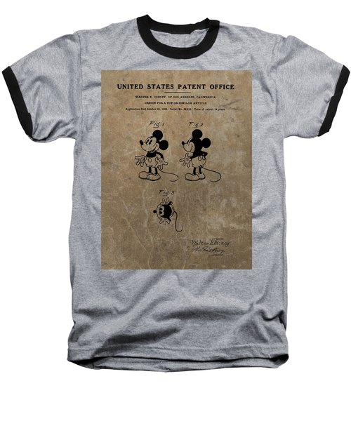 Vintage Mickey Mouse Patent Baseball T-Shirt