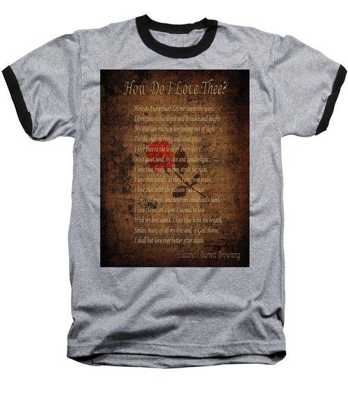 Vintage Poem 4 Baseball T-Shirt