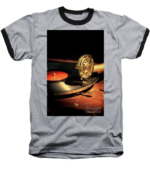 Vintage Record Player Baseball T-Shirt