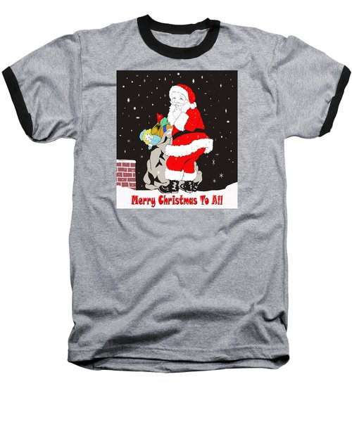 Baseball T-Shirt featuring the photograph Vintage Santa by Paul Mashburn