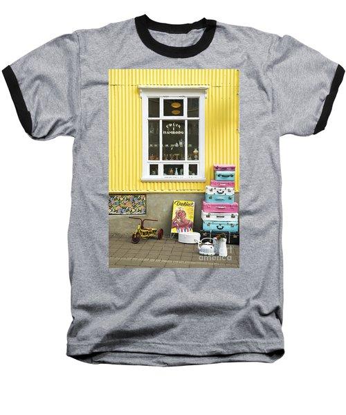 Vintage Shop In Akureyri Iceland Baseball T-Shirt