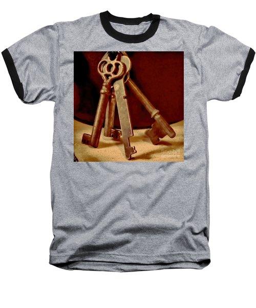 Vintage Skeleton Keys I Baseball T-Shirt