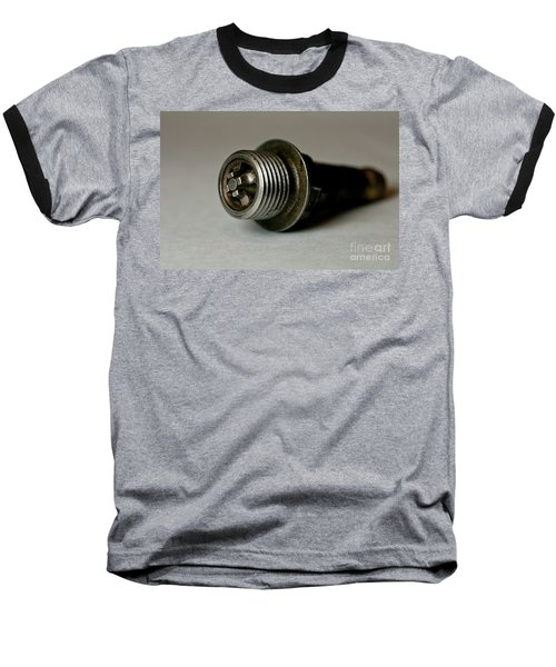Baseball T-Shirt featuring the photograph Vintage Spark Plug  by Wilma  Birdwell