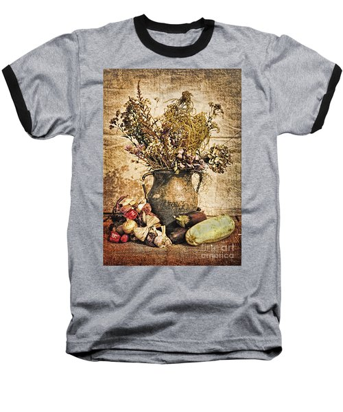 Vintage Still Life - Antique Grunge Baseball T-Shirt