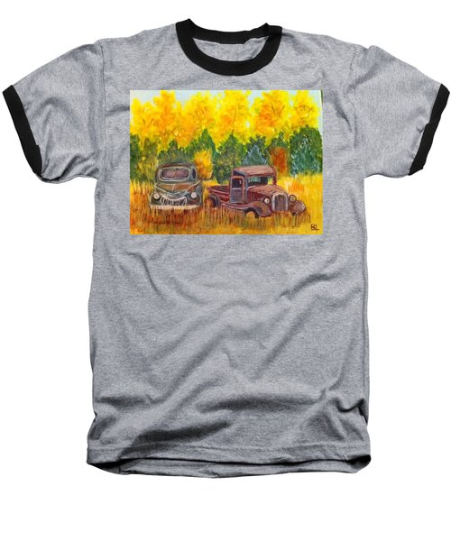Vintage Trucks Baseball T-Shirt by Belinda Lawson