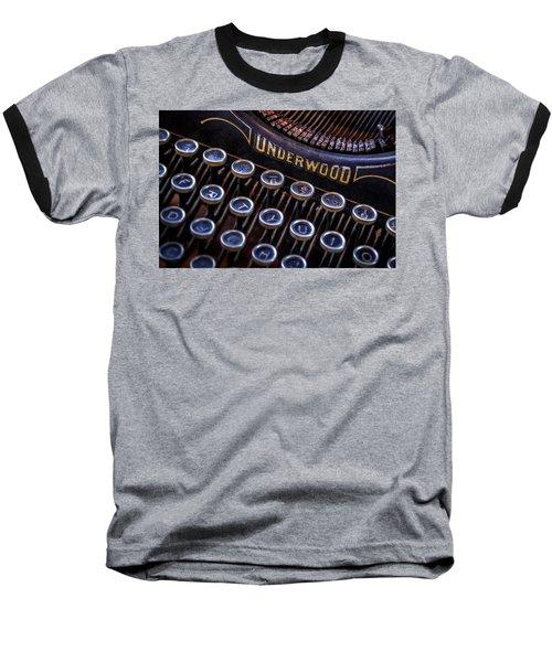 Vintage Typewriter 2 Baseball T-Shirt