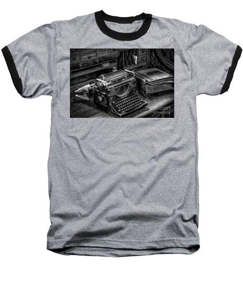Vintage Typewriter Baseball T-Shirt