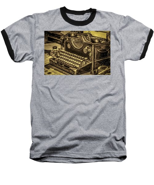Vintage Typewriter Baseball T-Shirt