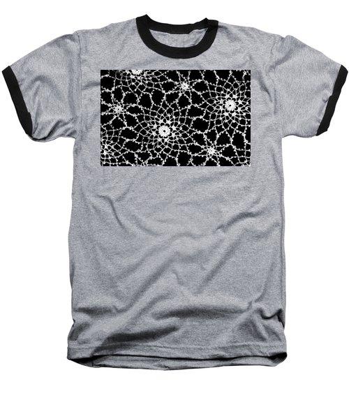 Vintage White Tatted Lace  Baseball T-Shirt