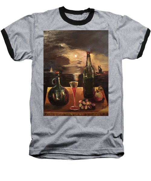 Vintage Wine Baseball T-Shirt