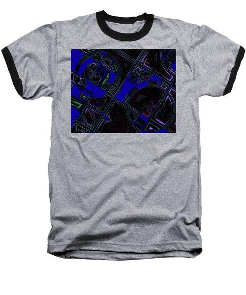 Baseball T-Shirt featuring the digital art Vinyl Blues by Judi Suni Hall