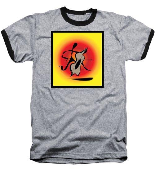 Baseball T-Shirt featuring the digital art Viola by Iris Gelbart