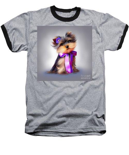 Violet  Baseball T-Shirt by Catia Cho