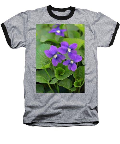 Violet Trio Baseball T-Shirt