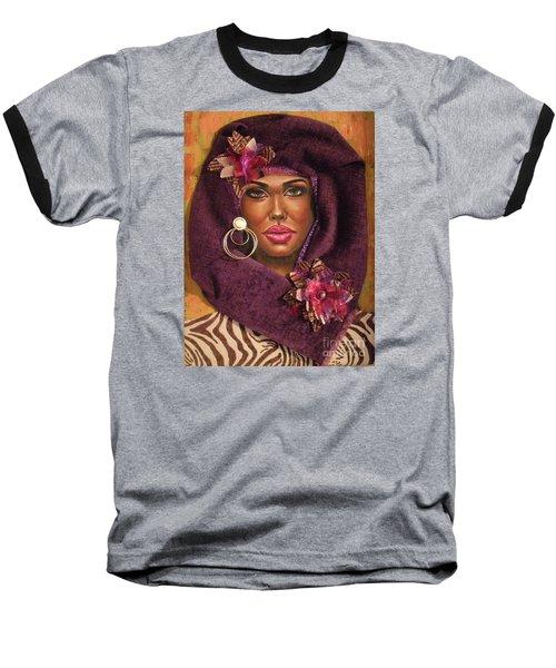 Baseball T-Shirt featuring the painting Violets by Alga Washington
