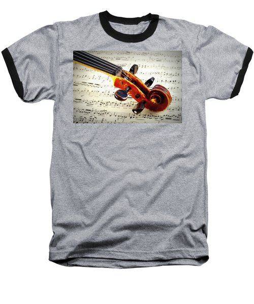 Violine Baseball T-Shirt by Chevy Fleet