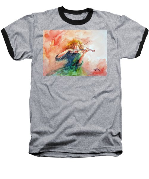 Violinist Baseball T-Shirt by Faruk Koksal