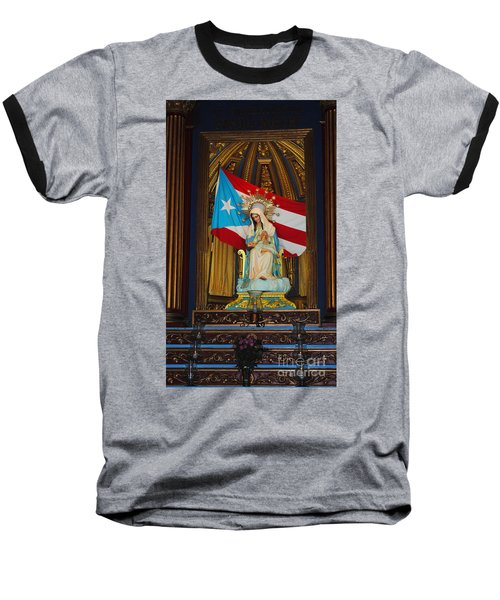 Virgin Mary In Church Baseball T-Shirt
