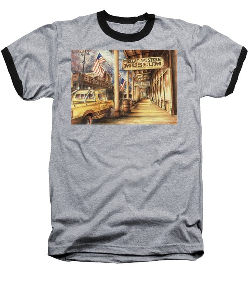 Virginia City Nevada - Western Art Painting Baseball T-Shirt