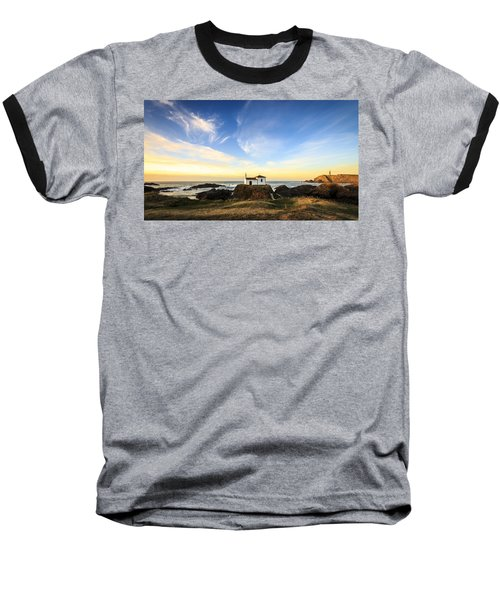 Baseball T-Shirt featuring the photograph Virxe Do Porto Meiras Galicia Spain by Pablo Avanzini