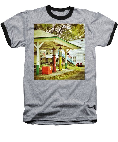 Visible Gas Pumps Baseball T-Shirt by Jean Goodwin Brooks