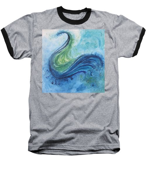 Peacock Vision In The Mist Baseball T-Shirt