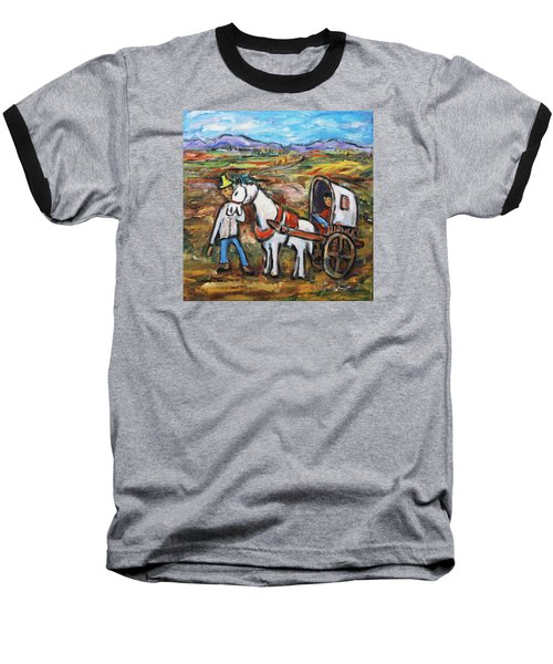 Baseball T-Shirt featuring the painting Visit The In-laws by Xueling Zou