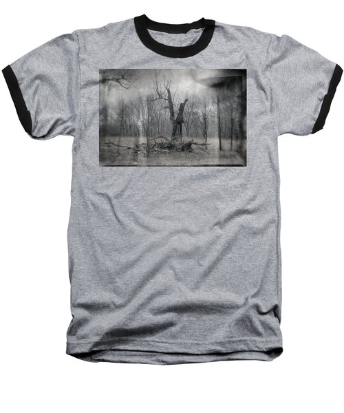 Visitor In The Woods Baseball T-Shirt