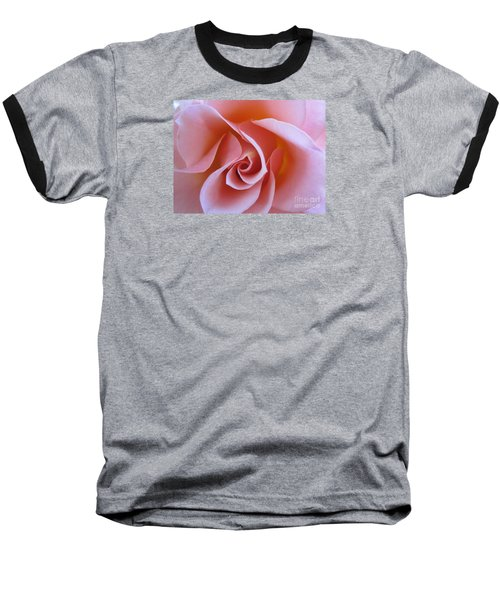 Vivacious Pink Rose Baseball T-Shirt