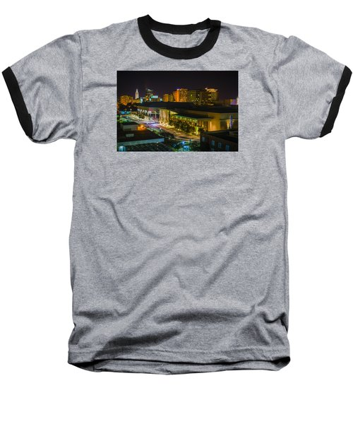 Baseball T-Shirt featuring the photograph Vividly Downtown Baton Rouge by Andy Crawford