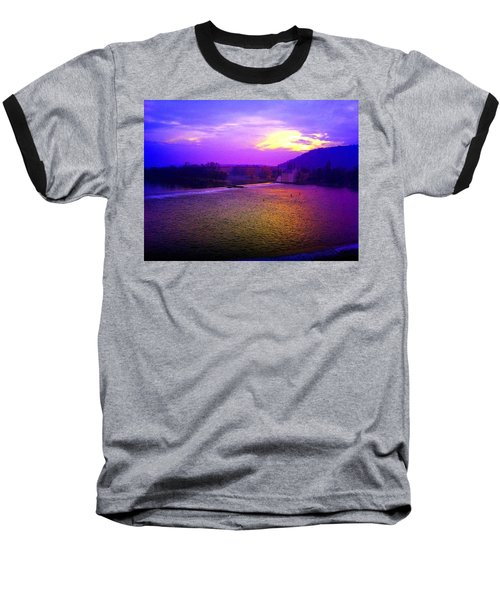 Vltava River Prague Sunset Baseball T-Shirt