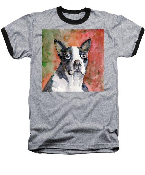 Baseball T-Shirt featuring the painting Vodka - French Bulldog by Faruk Koksal
