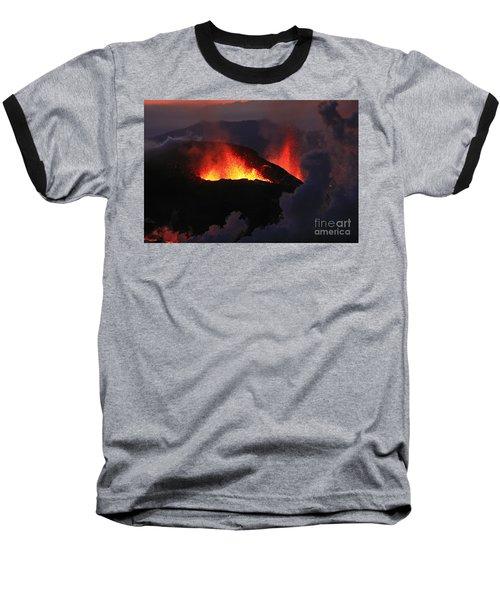 Baseball T-Shirt featuring the photograph Volcanic Eruptions by Gunnar Orn Arnason