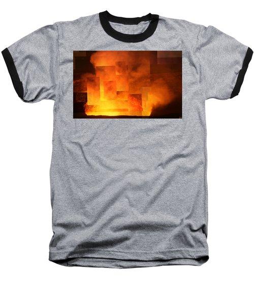 Volcanic Fire - Kilauea Caldera  Baseball T-Shirt