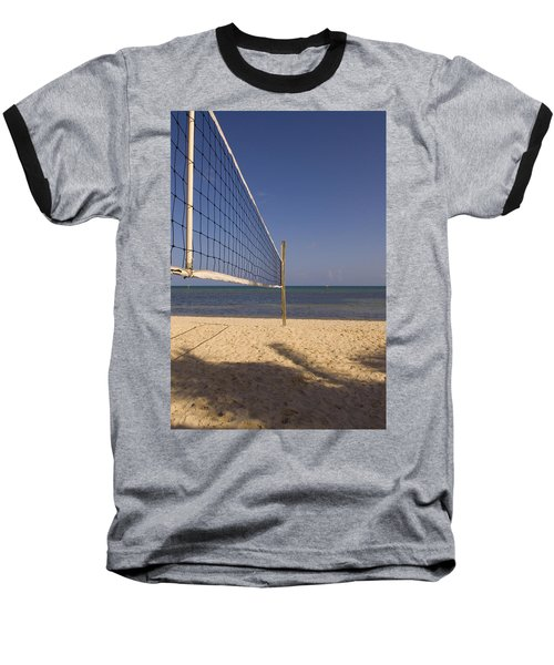 Vollyball Net On The Beach Baseball T-Shirt