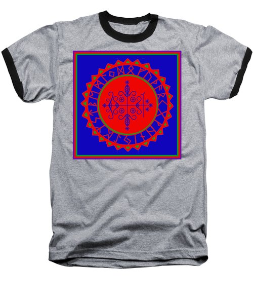 Voodoo Veve  As Above So Below Baseball T-Shirt