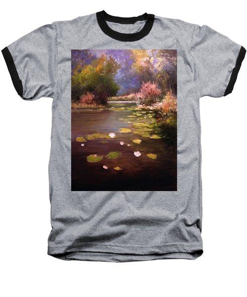 Voronezh River Baseball T-Shirt by Mikhail Savchenko