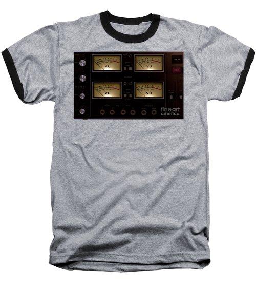 Baseball T-Shirt featuring the photograph Vu Meter Input Output by Gunter Nezhoda