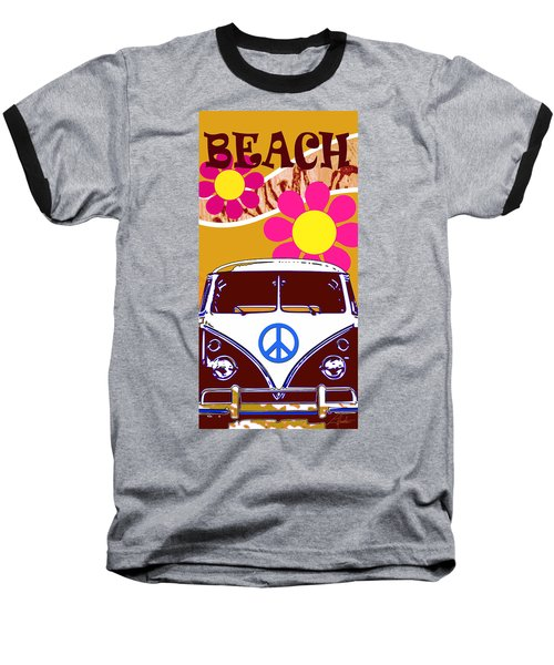 Vw Beach  Tan Baseball T-Shirt