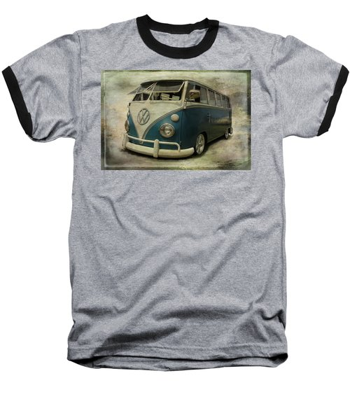 Vw Bus On Display Baseball T-Shirt by Athena Mckinzie